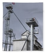 Grain And Feed Silos Bethel Vermont Fleece Blanket