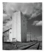 Grain Elevator, 2001 Fleece Blanket