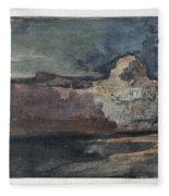 Grand Canyon In Stormy Weather, Arizona - Digital Remastered Edition Fleece Blanket