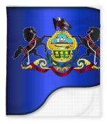Grand Pennsylvania Flag Fleece Blanket