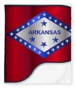 Grand Piano Arkansas Flag Fleece Blanket