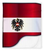 Grand Piano Austrian Flag Fleece Blanket