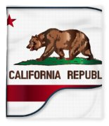 Grand Piano California Flag Fleece Blanket