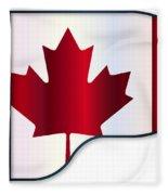 Grand Piano Canadian Flag Fleece Blanket