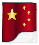 Grand Piano Chinese Flag Fleece Blanket
