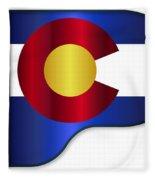 Grand Piano Colorado Flag Fleece Blanket