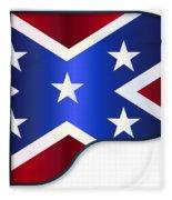 Grand Piano Confederate Flag Fleece Blanket