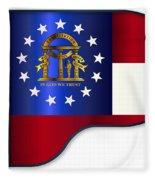 Grand Piano Georgia Flag Fleece Blanket