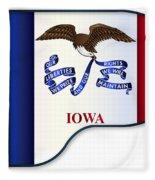 Grand Piano Iowa Flag Fleece Blanket