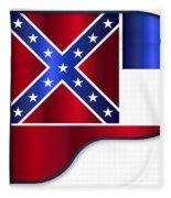 Grand Piano Mississippi Flag Fleece Blanket