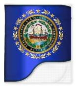 Grand Piano New Hampshire Flag Fleece Blanket