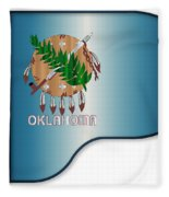 Grand Piano Oklahoma Flag Fleece Blanket