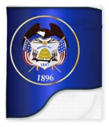 Grand Piano Utah Flag Fleece Blanket
