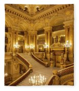 Grand Staircase Palais Garnier Fleece Blanket by Brian Jannsen