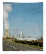 Grangemouth Petro-chemical Plant Fleece Blanket