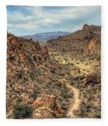 Grapevine Mountain Trail Fleece Blanket