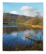 Grasmere In Late Autumn In Lake District National Park Cumbria Fleece Blanket