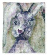 Gray Bunny Love Fleece Blanket