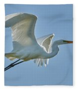 Great Egret, Yolo County California Fleece Blanket