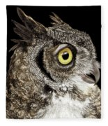 Great-horned Owl Fleece Blanket