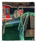 Great Lakes Towing Tug Kansas Fleece Blanket