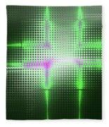 Green Aluminum Sparkling Surface. Metallic Geometric Abstract Fashion Background. Fleece Blanket