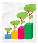 Green Economy Investment Concept Fleece Blanket