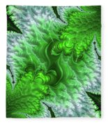 Green Frosty Canyon Fleece Blanket