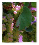 Green Grapes On The Vine 12 Fleece Blanket