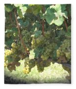Green Grapes On The Vine 17 Fleece Blanket