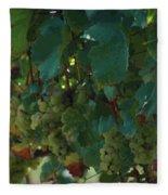 Green Grapes On The Vine 4 Fleece Blanket