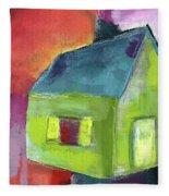 Green House- Art By Linda Woods Fleece Blanket