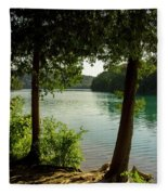 Green Lake, Ny Fleece Blanket