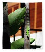 Green Lizard Fleece Blanket