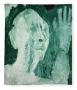 Green Portrait Fleece Blanket