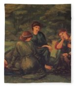 Green Summer 1868 Fleece Blanket