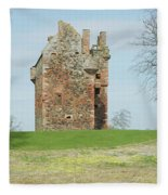 Greenknowe Tower Ruin Fleece Blanket
