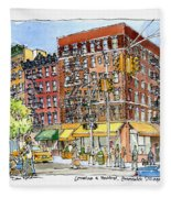 Greenwich Village Laundromat Fleece Blanket
