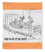 Greeting Card Get Well-all Wrapped Up Fleece Blanket