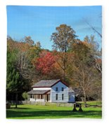 Gregg Cable House In Cades Cove Historic Area Of The Smoky Mountains Fleece Blanket