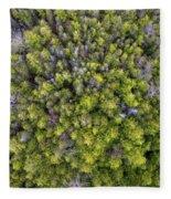 Grove Of Pines Aerial Fleece Blanket