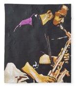 Grover Washington Jr Fleece Blanket