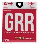 Grr Grand Rapids Luggage Tag II Fleece Blanket