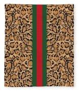 Gucci Leopard Print-1 Fleece Blanket