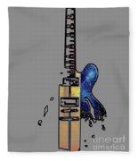 Guitar 4 Fleece Blanket