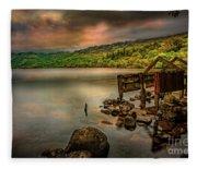 Gwynant Lake Old Boat House Fleece Blanket