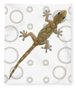 H Is For House Gecko Fleece Blanket