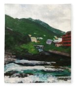 Hakone In Natural Splendor Fleece Blanket
