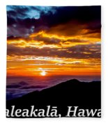 Haleakala Hawaii Fleece Blanket