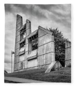 Halifax Explosion Memorial Bell Tower Bw Fleece Blanket